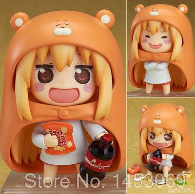 Nendoroid Himouto! Umaru-Chan Doma Umaru #524 PVC Action Figure Collection Model Toy Doll 4 10cm KT1677 free shipping 4 nendoroid anime himouto umaru chan doma umaru boxed 10cm pvc acton figure collection model doll toy gift 524