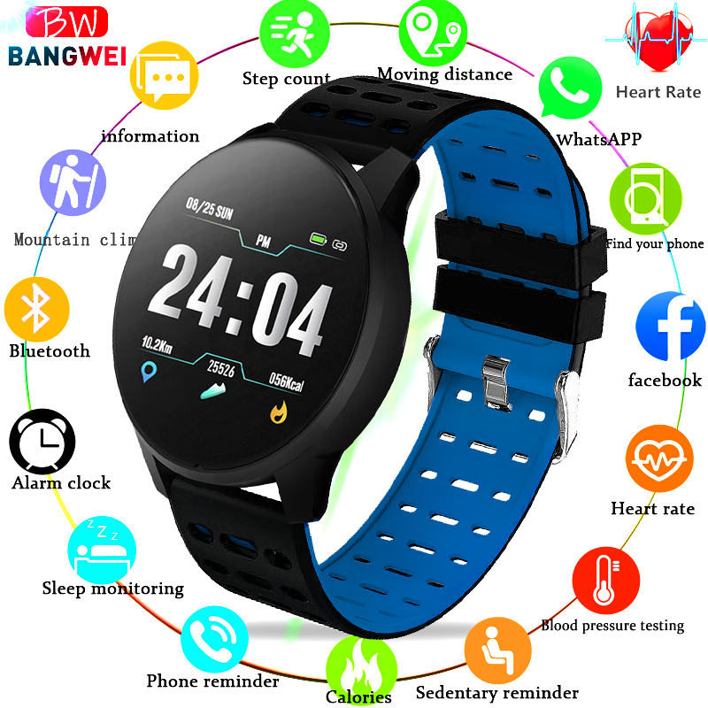 Smart Bracelet BANGWEI New IP67 Waterproof Fitness Watch Bluetooth Connection Android ios Sphygmomanometer Pedometer Wristband