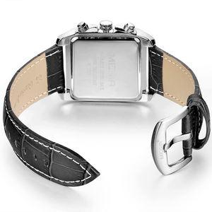Image 5 - MEGIR Top Marke Luxus Männer der Mode Rechteck Uhr Einzigartige Gravierte Zifferblatt Military Sport Uhren Relogio Masculino Esportivo