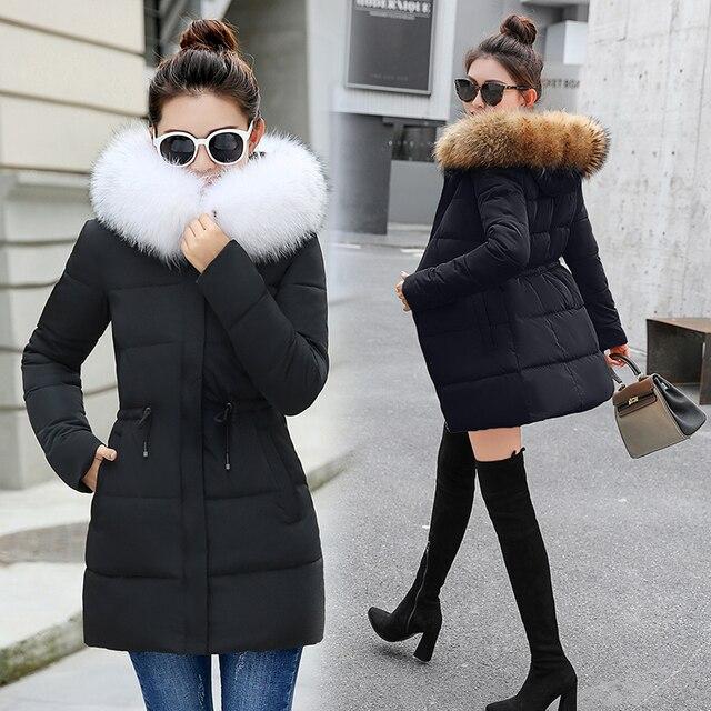 חורף מעיל נשים 2019 חדש חם סתיו אופנה נשים מעיל עבה hoody חורף מעיל slim נשים parka חם נשים למטה מעיל