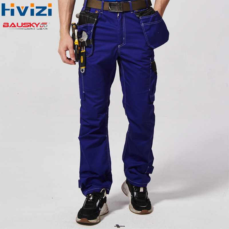 Work Cargos Mens Protective Coverall Repairman Strap Jumpsuits Trousers Working Uniforms Plus Size Safety Pants B218