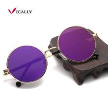 Mujeres del diseño de los hombres gafas de sol retro gafas de sol redondas gafas de sol de metal de la vendimia gafas de sol mujer new uv400 retro