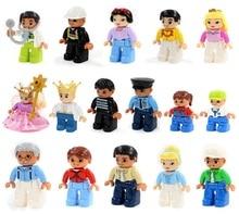 Lepin duplo figuras minifigures building blocks set compatible lepin duplo zoo granja casa/tren educación juguete original
