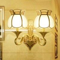 Vintage Copper 110V 220V Led Wall Lamp Luminarias Led Reading Light Bed Wall Mount Light Bathroom Wall Light Modern Wall Light