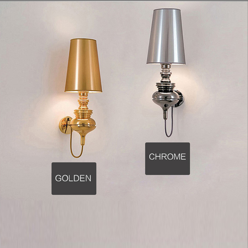 Free shipping colorful shade art decorative wall lamp abajur bedroom French modern indoor wall light sconce multicolor led light free shipping chrome finish modern wall lamp bedroom sconce with cylinder crystal lamp shade