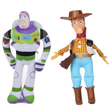 цена Disney Toy Story 4 plush toy woody Buzz light year plush doll child toy doll animation character action model children's toy gif онлайн в 2017 году