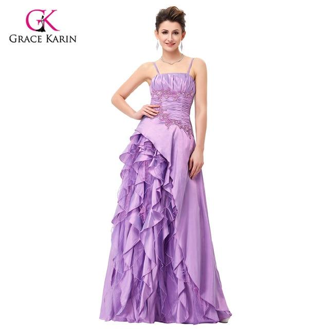 Brautjungfer kleider grace karin weiß lila spaghetti trägern ...