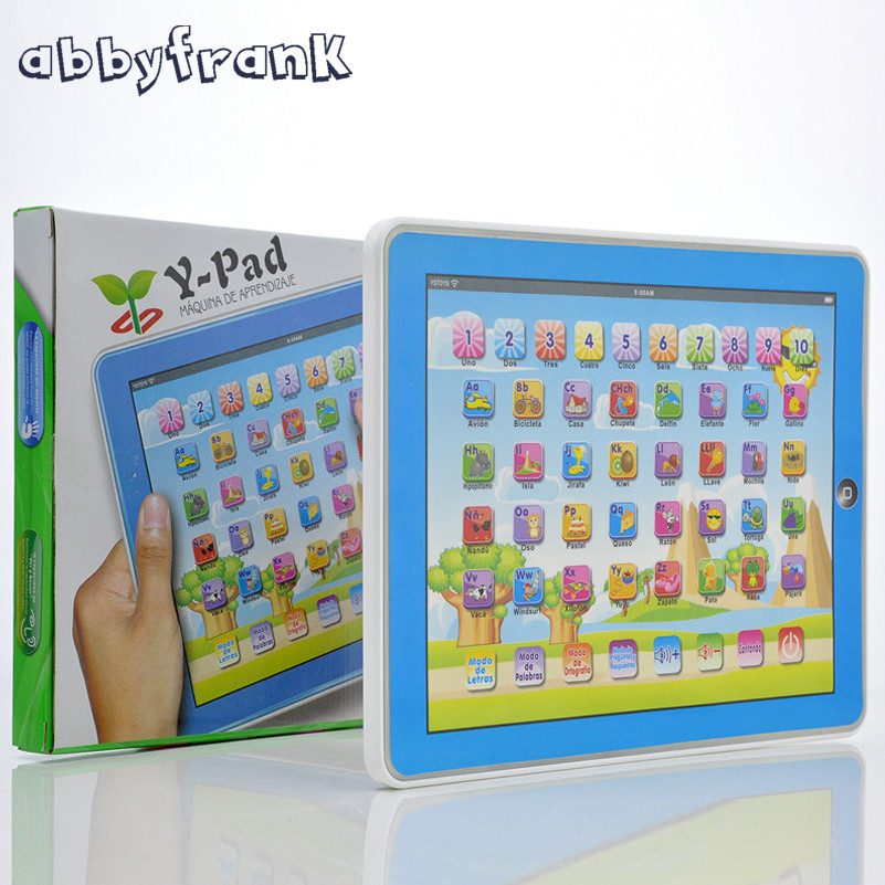 Spanish Learning Educational Machine Baby Spanish Learning Machine Electronic Touch Tablet Toy Pad For Children Kids Laptop Pad
