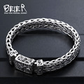 Beier Thailand import  silver sterling Hand knitting classic bracelet for men High-end design Fine Jewelry  J925SL045