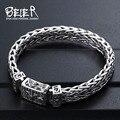 Beier tailândia importação de mão de tricô clássico pulseira de prata esterlina para homens high-end design de jóias finas j925sl045