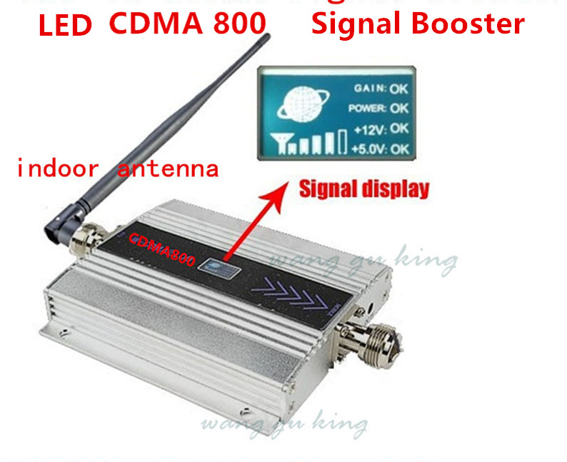 Newest 3G <font><b>850MHz</b></font> GSM CDMA Mobile Phone Cell Phone signal Booster Repeater gain 55dbi LCD display function + indoor antenna image
