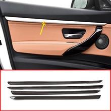 4 stücke Carbon Faser Stil ABS Innen Tür Dekoration Streifen Trim Für BMW 3 serie GT F34 2013-2018 zubehör(China)