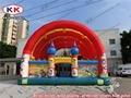 Commercial Inflatable fun city for kids Inflatable amusement park for outside  inflatable castle bouncer house for kids