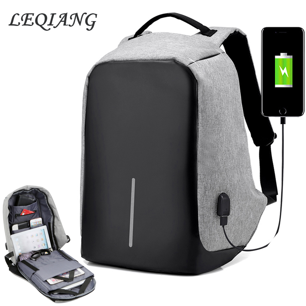 1e840601240a US $23.54 45% OFF|Men's Waterproof Charging Backpack Business Laptop  Backpack Usb Port Casual Daypacks Teenage School Backpack New-in Backpacks  from ...