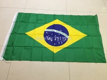 New fashion 90*150 cm Brazil Flag Office/Activity/parade/Festival/Home Decoration 3x5 ft 10pcs /lot(China)