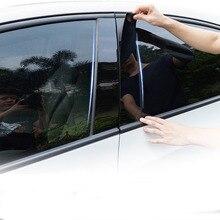 PC Fenêtre Pilier Revêtement Dhabillage Autocollant Pour Toyota RAV4 RAV 4 2007 08 09 10 11 12 13 14 15 2016 17 18 2019 2020 accessoires