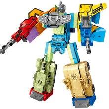 Magic Number 0 to 9 Digital DIY Creative Blocks Assembly Educational Deformation Robot Transformation Math Toys For Children Leg