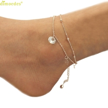 Diomedes Newest Anklets Women Girl 1 PC Fashion Women Rose Anklet Bracelet Sandal Barefoot Beach Foot Jewelry Charm For Girls