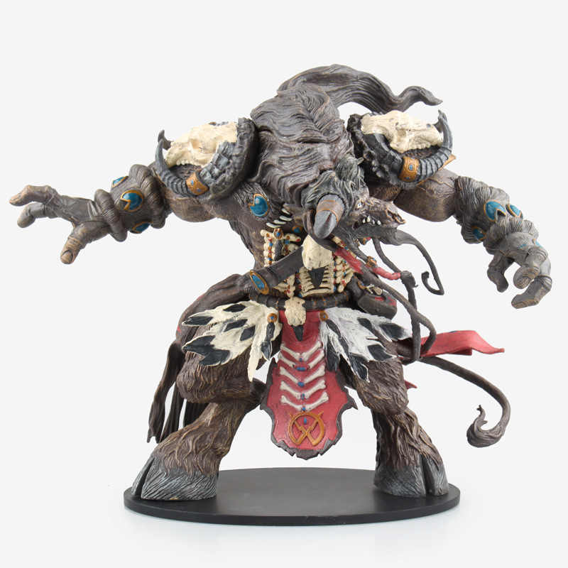 24cm Game WOW Tauren Hunter Action Collectible Statue Toy Figure Action  Figure Model Toy birthday gift