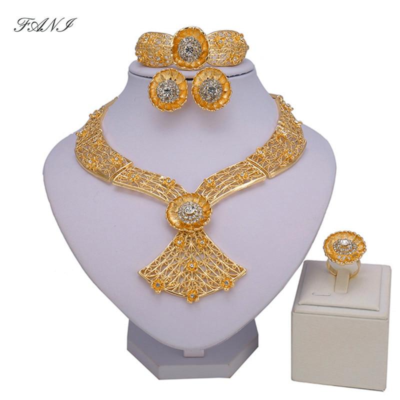 Fani Dubai Gold Jewelry Set...