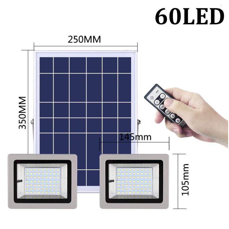 36W 60W 80W 100W SMD5730 éclairage LED LED capteur à énergie solaire lumière de sécurité extérieure jardin lampe d'inondation étanche blanc froid - 2