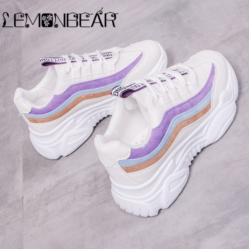 Women Casual Shoes 2018 Autumn Mesh Women Shoes Flats Platform Lace-Up Fashion Breathable Women Sneakers Woman Zapatos De Mujer(China)