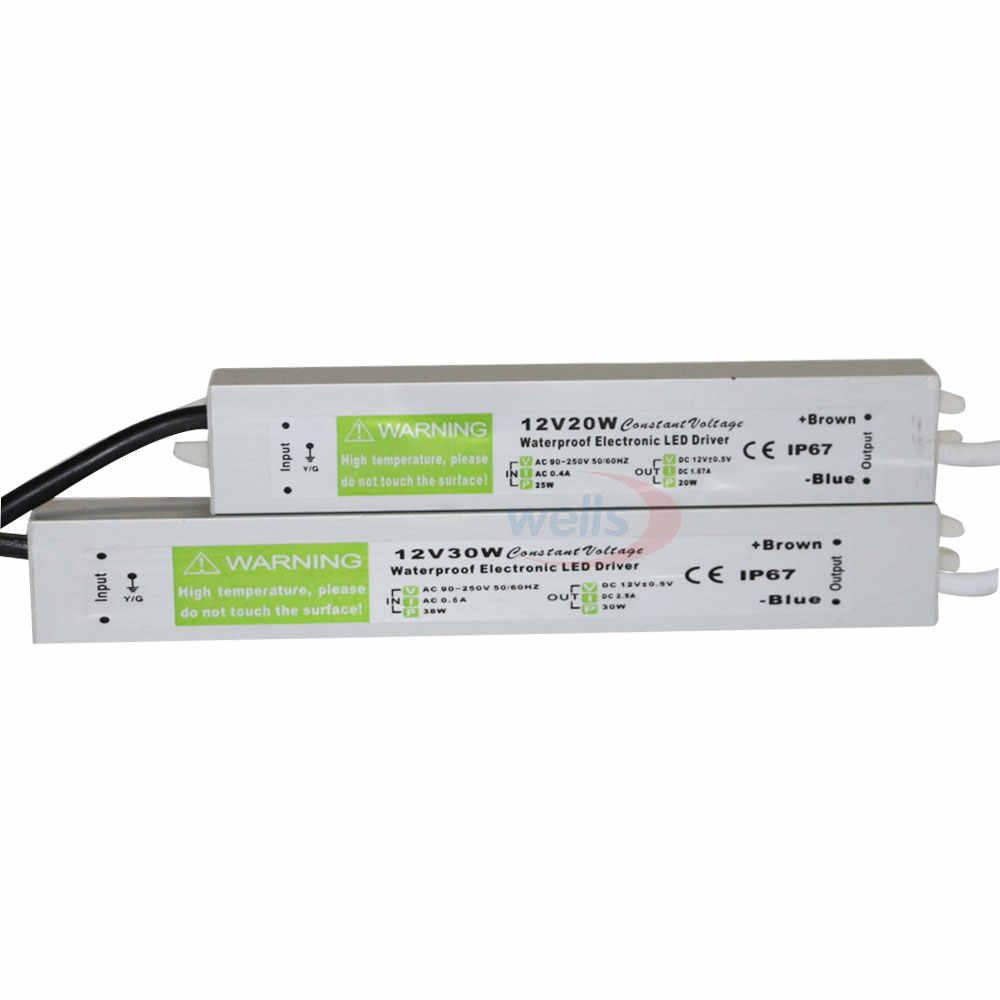 Водонепроницаемый IP67 светодиодный драйвер переменного тока dc 12 V/24 V мощностью 10 Вт, 15 Вт, 20 Вт, 25 Вт 30 Вт 36 Вт 45 Вт 50 Вт 60 Вт 80 Вт 100 Вт 120 Вт 150 Вт Питание для светодиодный светодиодные полосы света