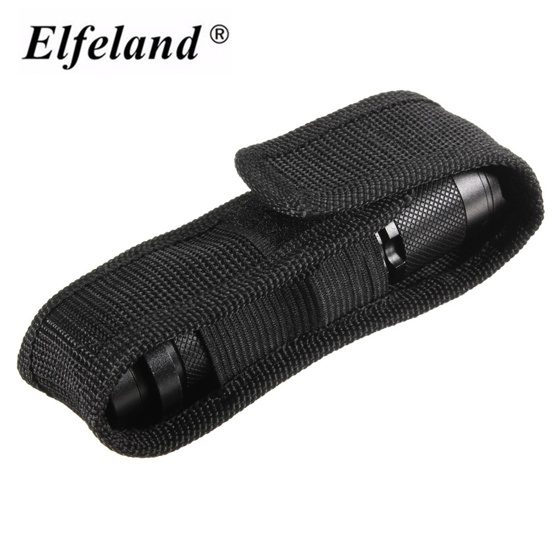 1pcs 13cm Black Nylon Holster Cover Belt High quality Pouch for LED Torch Flashlight for Most 18650 flashlight Accessories