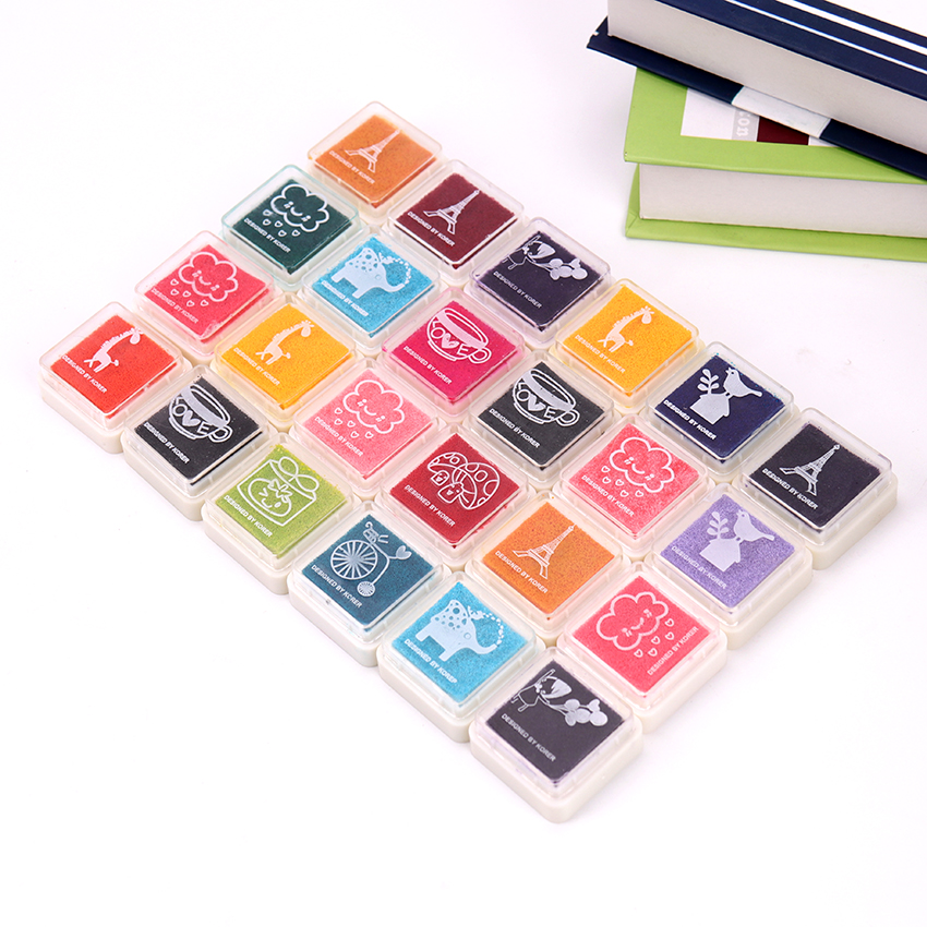 Fashion Colorful Cute Ink Pad DIY Fingerprint Painting Mud Homemade Painting Supplies Children Multicolor Fingerprint Toy