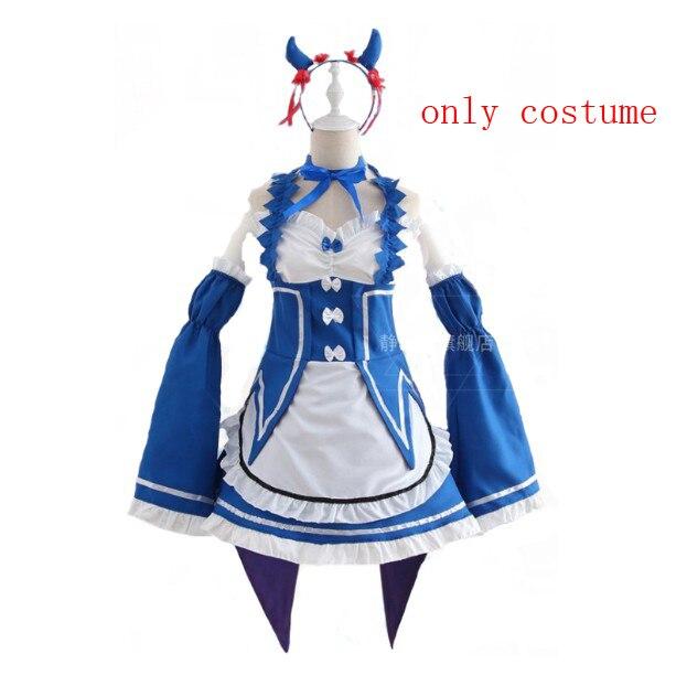 Ram/Rem Косплей Re: zero Hajimeru Isekai Seikatsu черный синий красный костюм горничной платье служанки - Цвет: package 7