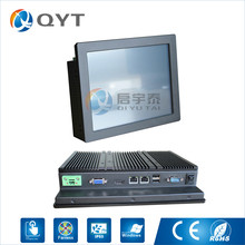industrial touch screen panel pc Fanless N2807 with 10″ industrial pc rs485/rs232 2GB RAM 32G SSD 2LAN CE ROHS