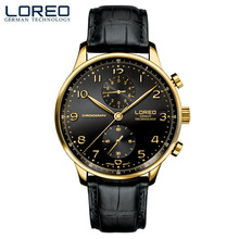 LOREO Casual mens watches brand luxury Leather Men Military Wrist Watch Fashion Men Sports Quartz Watch Relogio Masculino M32