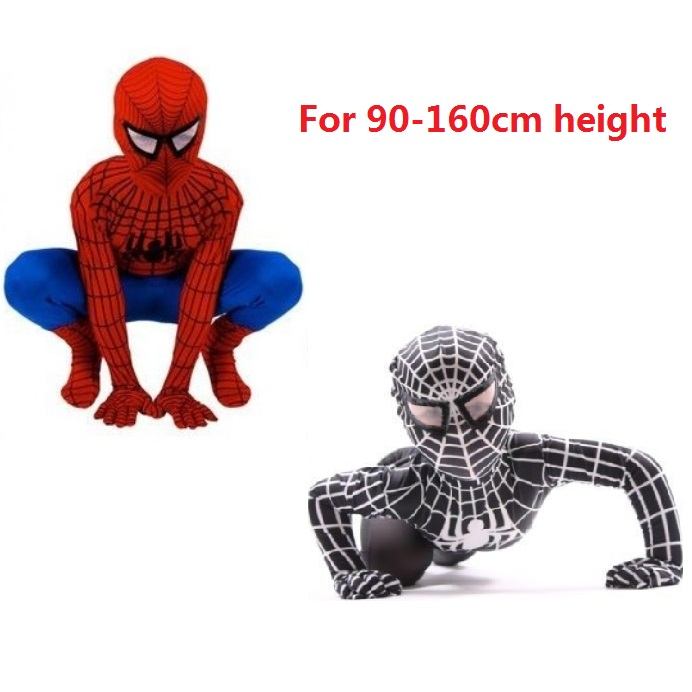New Children Boy Black Spiderman Cosplay Costume Spider-man Kids Superhero Lycra Spiderman Hero Halloween Costume Christmas Gift