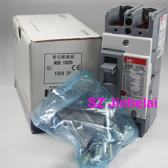 ABE102b Authentic original ABE 102b LS Molded case circuit breaker ABE-102B Air switch 2P 100A cm1 400 3300 mccb 200a 250a 315a 350a 400a molded case circuit breaker cm1 400 moulded case circuit breaker