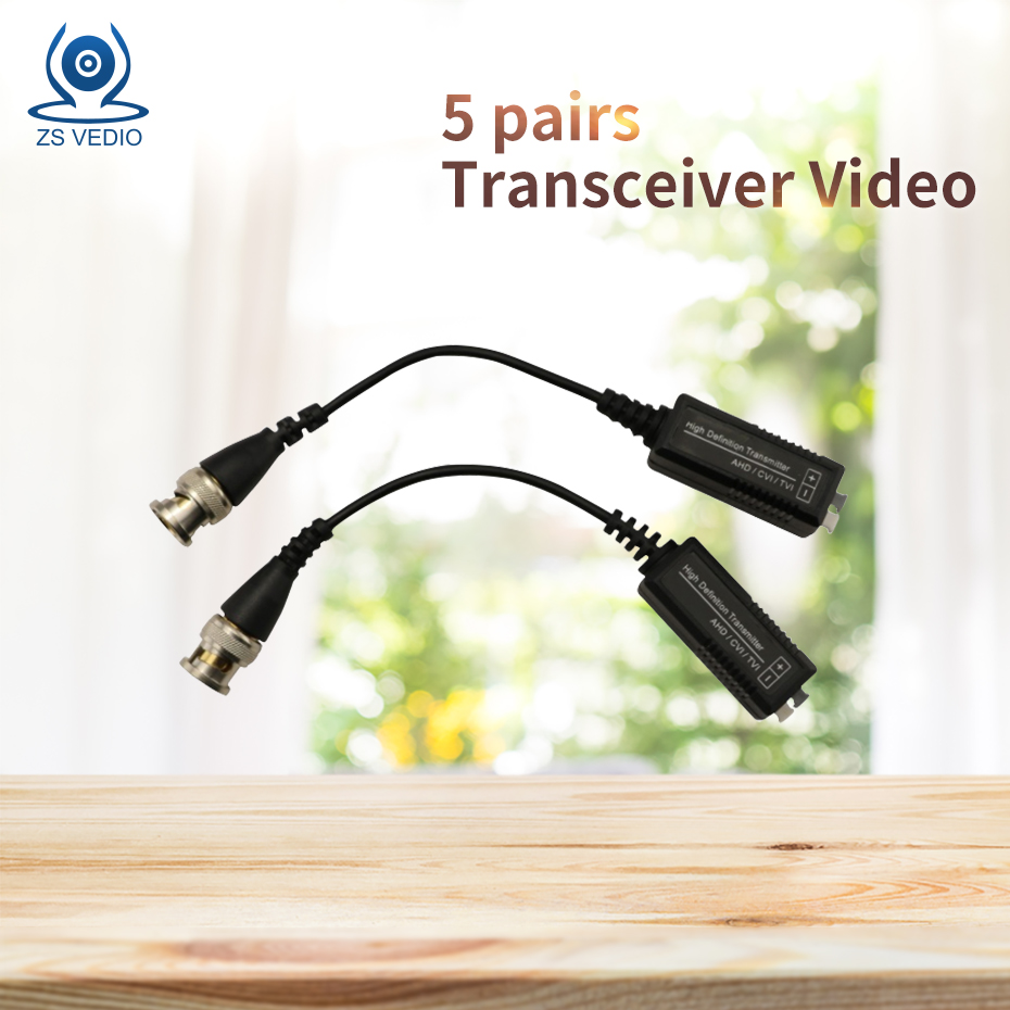 ZSVEDIO 5pcs / lot HD TVI CCTV Passive Transceiver Video Balun UTP Receiver 720p 1080p HD Video signal up to 20m (650ft) cableZSVEDIO 5pcs / lot HD TVI CCTV Passive Transceiver Video Balun UTP Receiver 720p 1080p HD Video signal up to 20m (650ft) cable