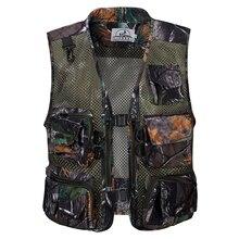 Летний Быстросохнущий дышащий сетчатый жилет для мужчин, для фотографа, без рукавов, куртка с несколькими карманами, для улицы, походов, рыбалки, охоты, жилет
