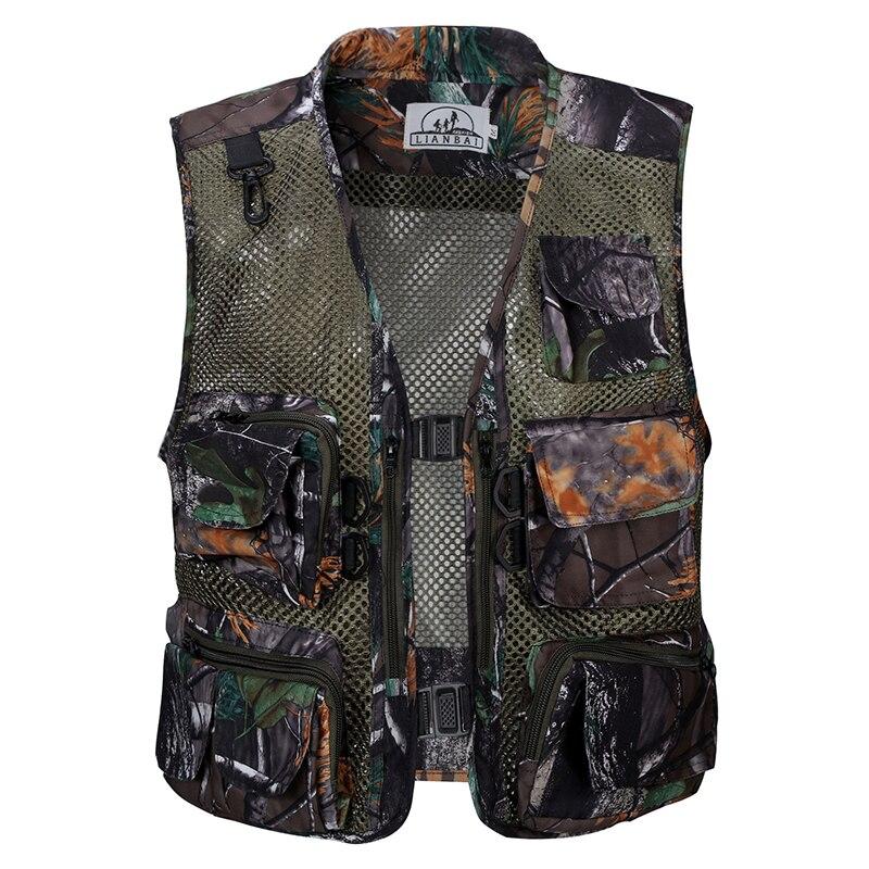 Summer Quick-Drying Breathable Mesh Vest Men Photographer Sleeveless Jacket Multi-Pockets Outdoors Hiking Fishing Hunting Vest