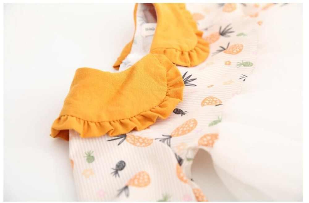 יילוד תינוק שמלת אביב קיץ תינוק בנות שמלת תחרה 1st מסיבת יום הולדת נסיכת פעוט ילדה שמלות אננס תינוק בגדים