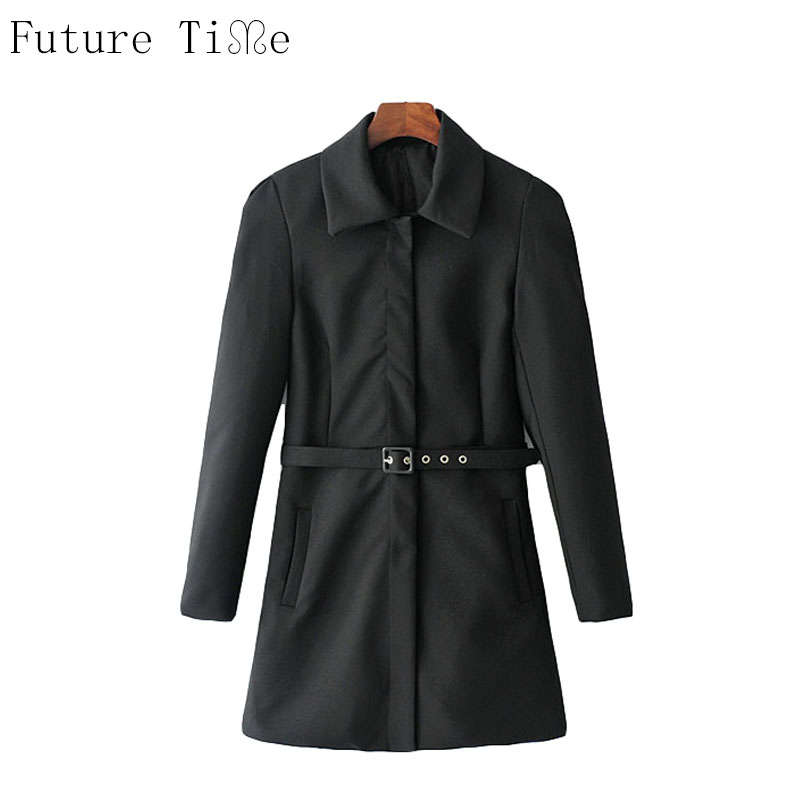 Future Time font b Women b font Windbreaker Autumn Slim Waist font b Jackets b font