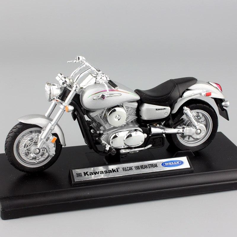 Échelle 1:18 welly 2002 Kawasaki Vulcan 1500 MEAN STREAK moto Motos réservoir en métal mini modèle Moulé Sous Pression Enfant jouet miniatures