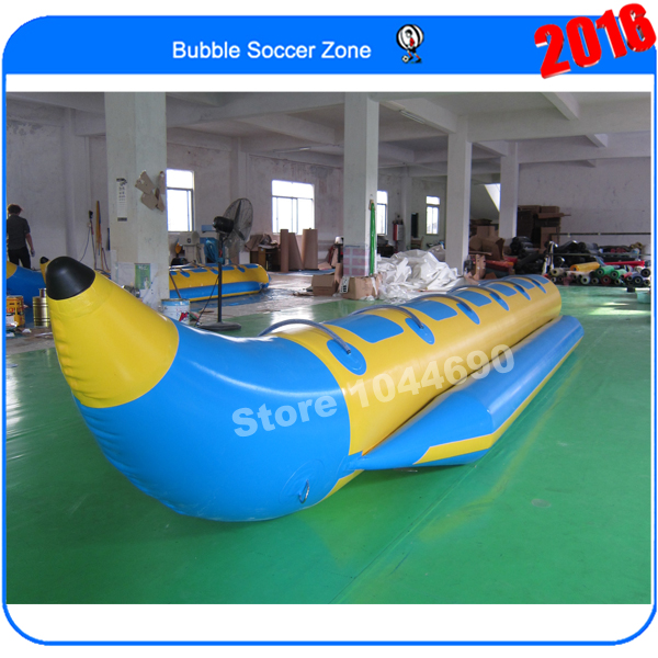 Free shipping 7*1.1m inflatable banana boat for sale ,inflatable water banana boat water paddle boat hand boat for child under 7 years old