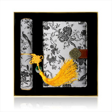 Notebook Combine Of Planner  Diary Book And Mouse Pad Set Chinese Style Featured Culture Tangfoo Creative Retro Silk Tapestry
