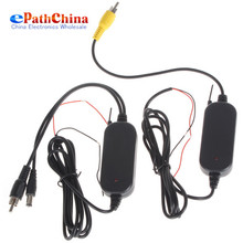 Brand New 2 4G Wireless Color RCA Video Transmitter Receiver Kits Unit For Vehicle Car Rearview