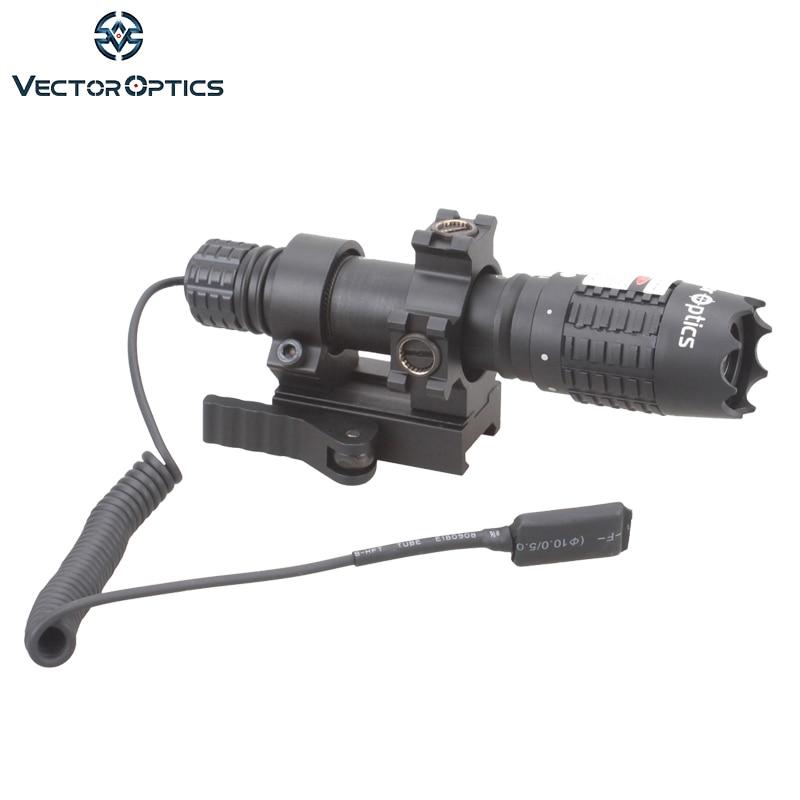 Vector Optics Magnus Designador Laser Verde Lanterna Vista com Barril de Montagem Interruptor de Controle Remoto Carregador de Bateria Para A Caça Noturna