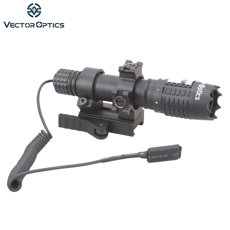 Vector Optics Magnus Green Laser Designator Flashlight Sight with Barrel Mount Remote Switch Battery Charger For Night Hunting xl nxf rg 5mw green laser gun sight w weaver mount led flashlight black 3 x cr 1 3n