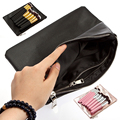 Women Cosmetic Makeup PU  Bag Case make up Organizer Toiletry Storage Travel Wash Maquiagem Pouch PU Leather Handbag Zipper