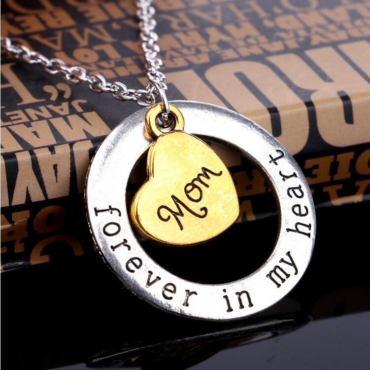 Christmas Gift Fashion Mom Necklace Son Love Forever in my Heart Dad ...