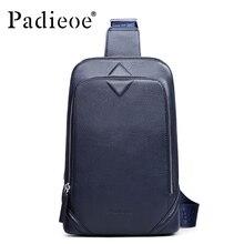 Brand Padieoe 2017 New Men's Chest Packs Shoulder Bags Men Genuine Leather Messenger Bag Travel Casual Designer Crossbody Bag