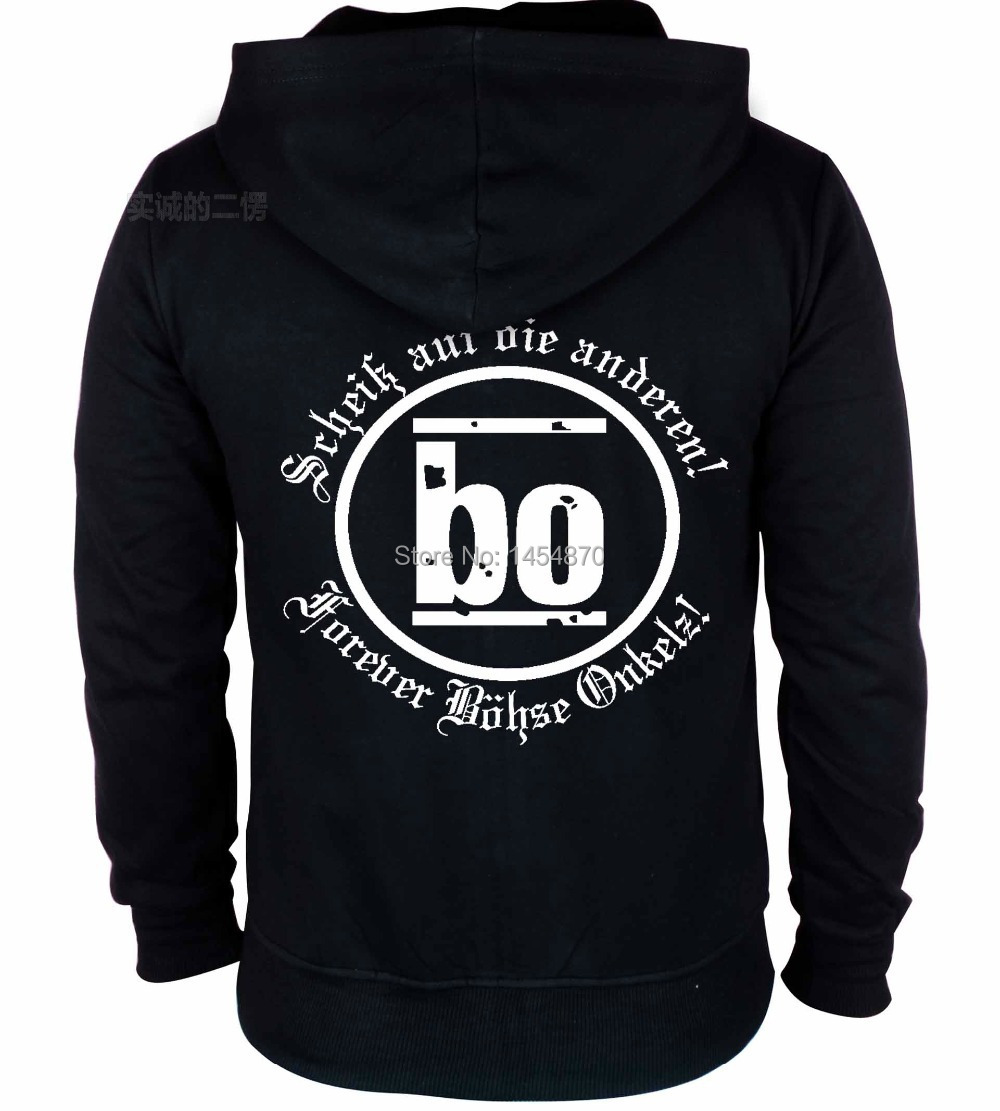 2602c5eb6 2 tipos Bohse Onkelz Rocha hoodies marca revestimento de escudo chandal  hombre sudadera Casacos treino Camisola do punk capa por ar ~ Premium Deal  June 2019