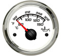 1pc oil temperature gauges white color fuel temperature meters 12v 24v fit for auto boat with sensor